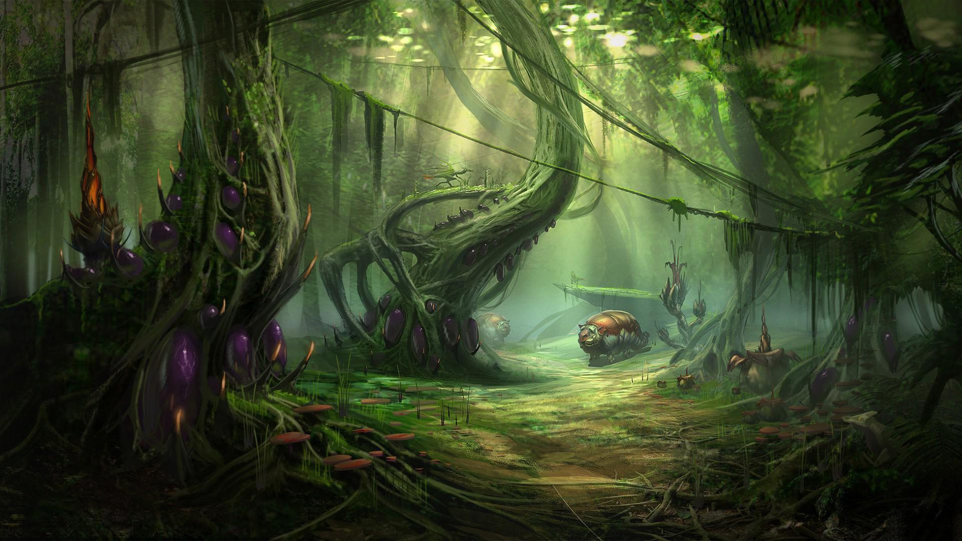 лес картинки фэнтези