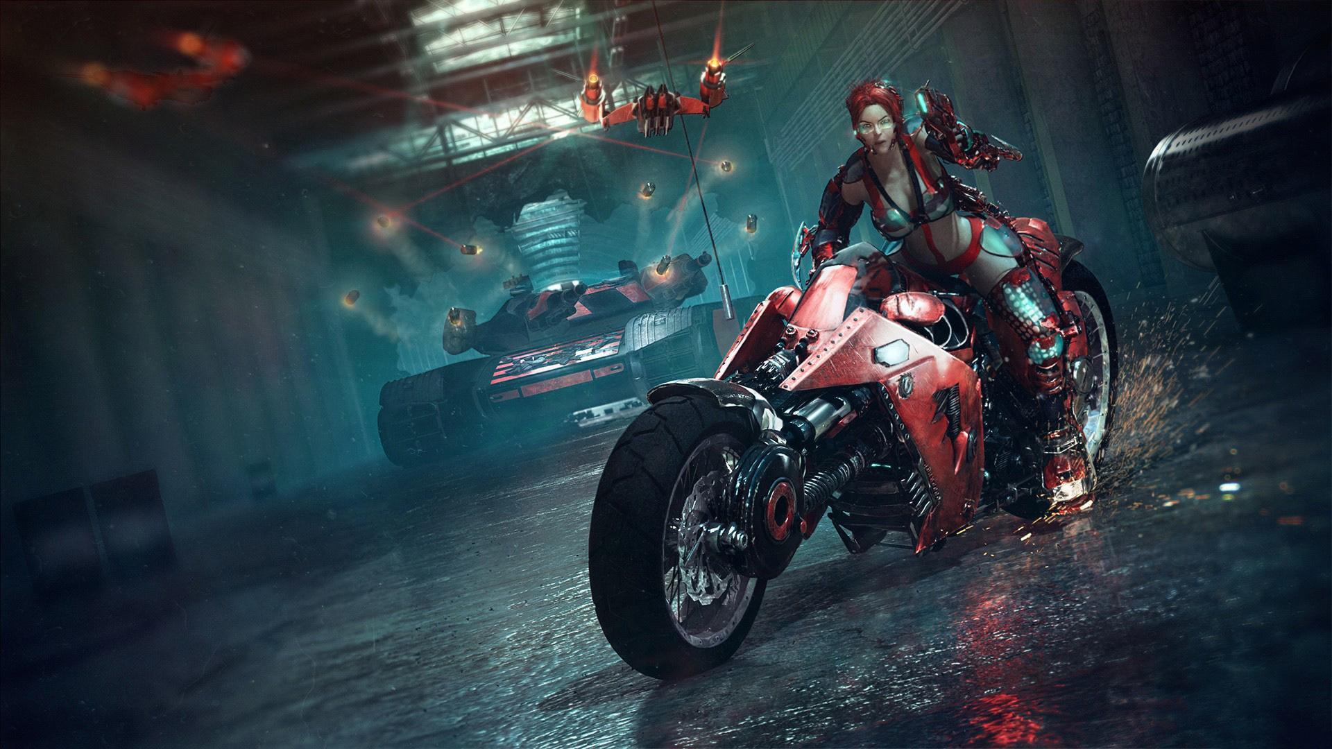 Сексуальная девушка и мотоцикл 6 фотография