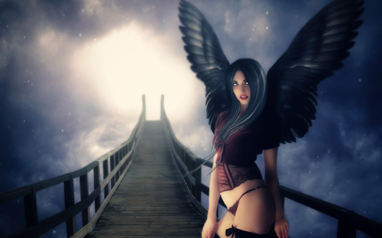Картинки красивая девушка ангел с крыльями